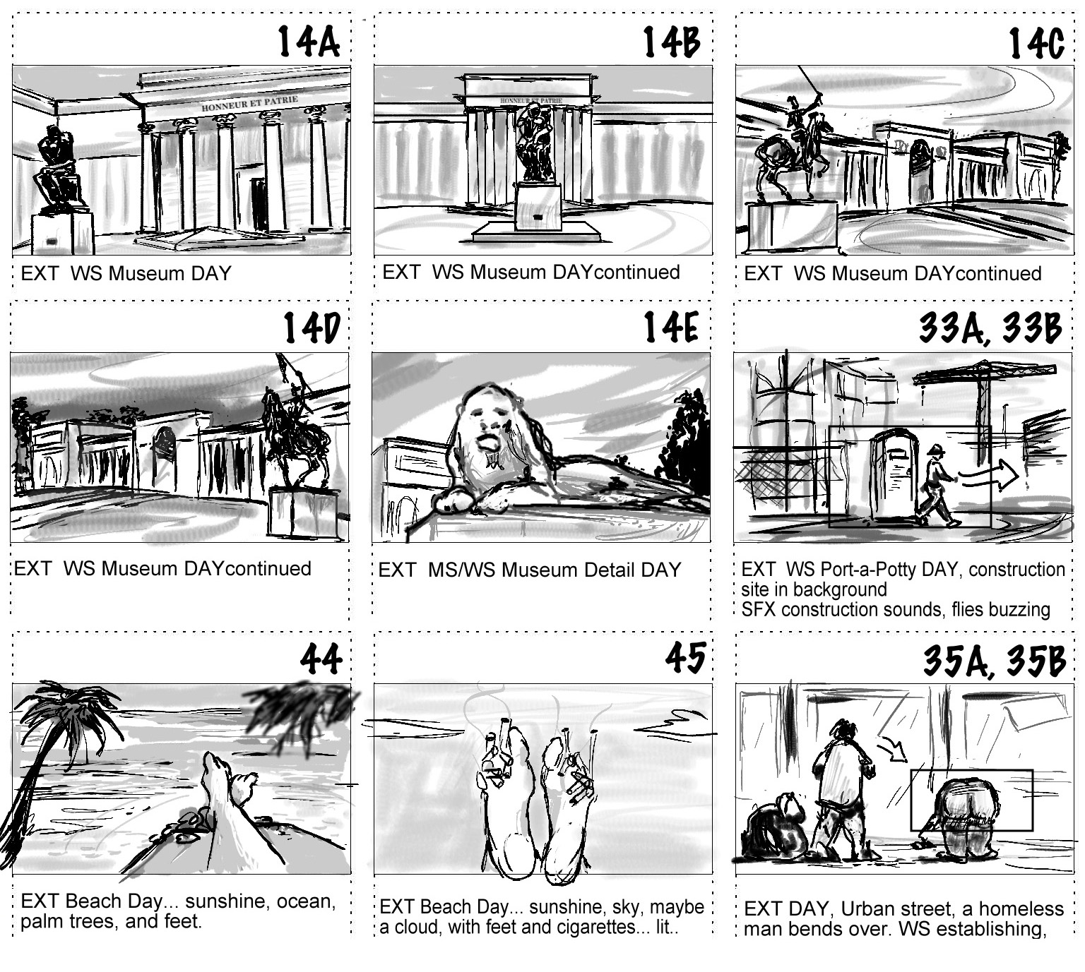 Here Are Some Storyboards For A Short Film Comedy Currently In Production.  Digital Pen.