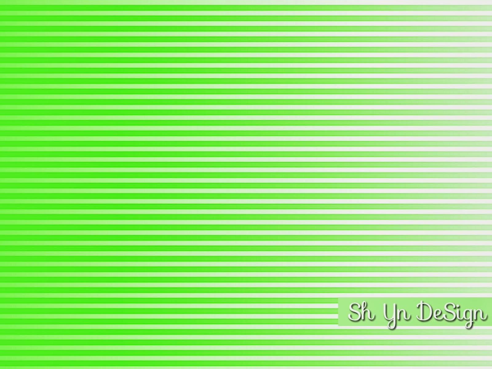 Apple Green White Stripe Pattern Collection