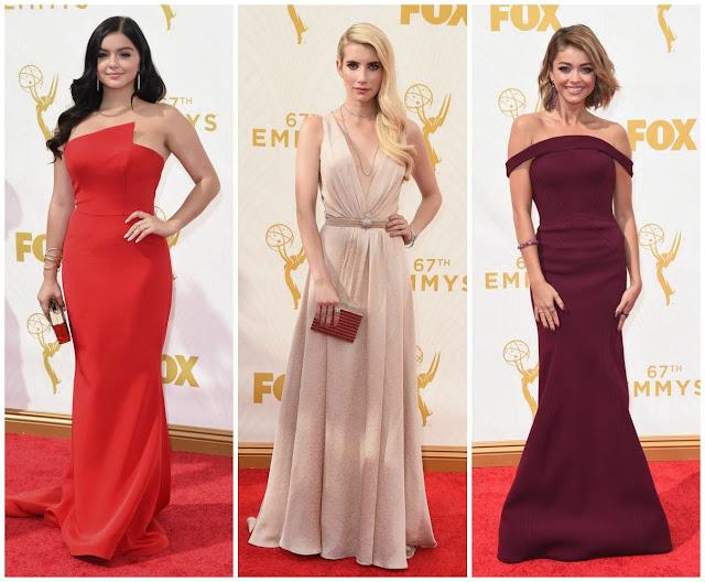 Ariel Winter, Emma Roberts, Sarah Hyland, fashion, emmys, bombshells,