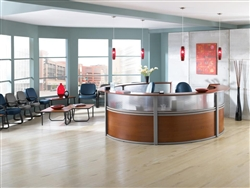 Large Curved Reception Desk