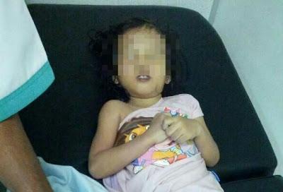 Gambar kematian anak bongsu yang ditinggalkan ibunya di dalam kereta