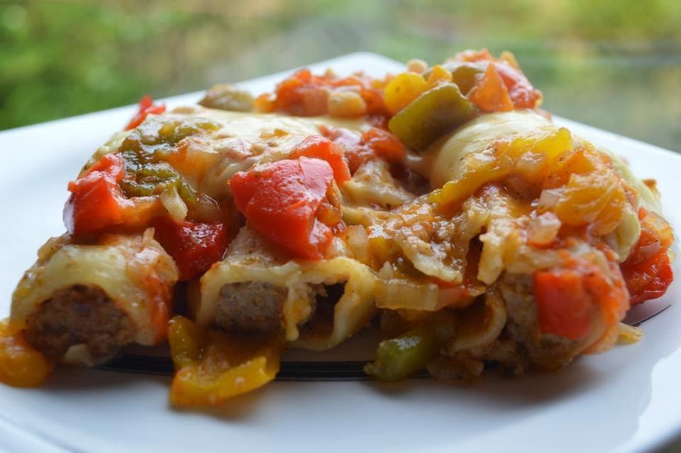 Cannelloni z mięsem mielonym, a'la zapiekanka.