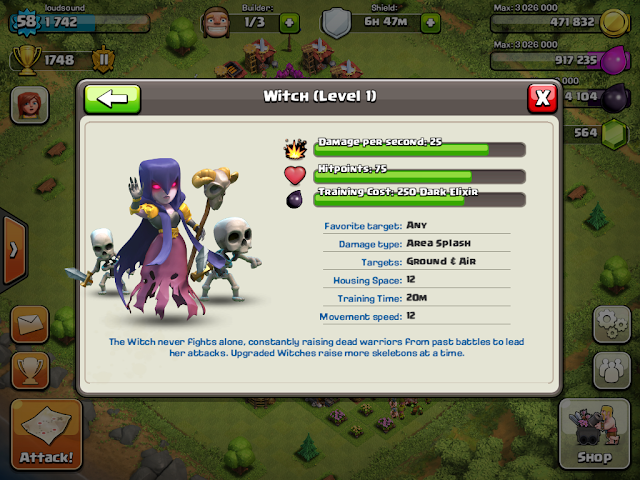 Clash of Clans updated to unlock the Witch, allow sharing of battle
