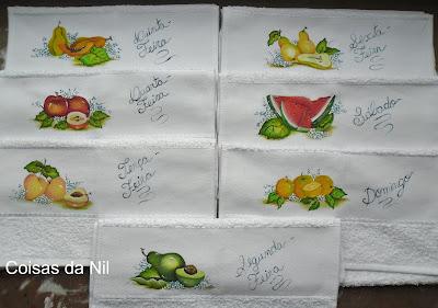semaninha com pintura de frutas