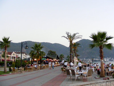 Bogazici restaurant on Fethiye harbour in Turkey