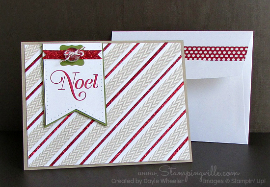Stylish Stripes Noel Greeting Card