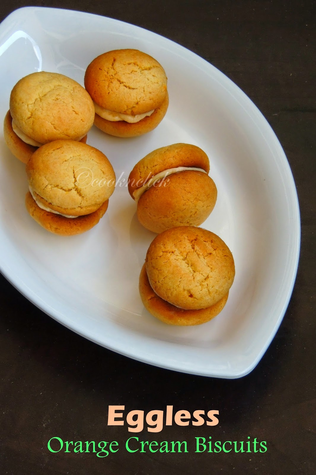 Orange cream biscuits, Cream biscuits with hung curd, Orange cream biscuits