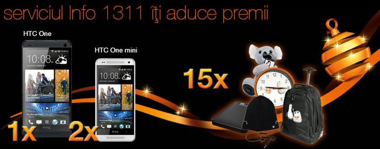 Concurs Orange 2014 - serviciul Info 1311 va aduce premii!