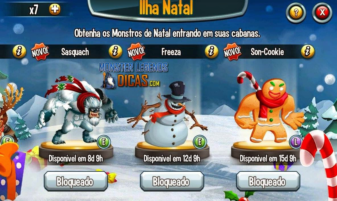 Ilha Natal no Monster Legends