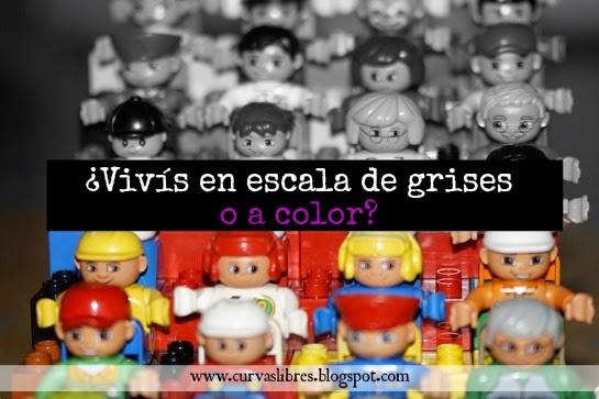 La vida se ve distinta si te vestís en escala de grises o a colores www.curvaslibres.blogspot.com