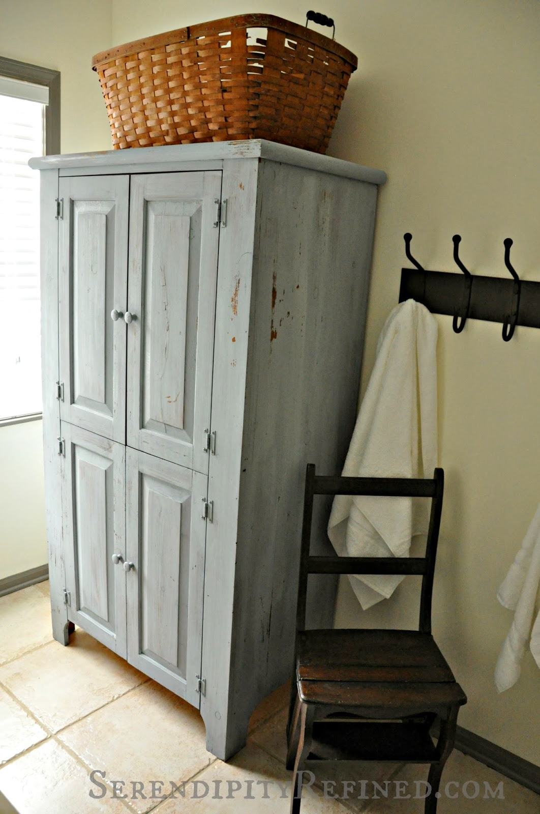 Awesome Serendipity Refined Blog Milk Painted Rustic Farmhouse Linen Cabinet Tutorial