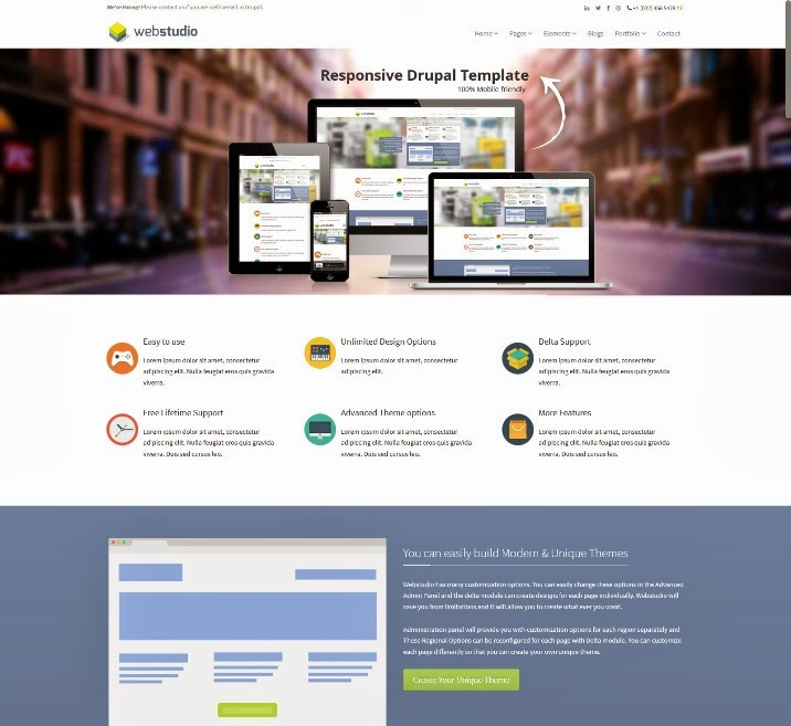 Webstudio - Responsive Multipurpose Drupal 7 Theme
