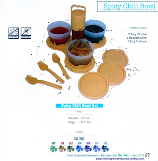 Info & Harga Twin Tulip Tulipware 2014 : Spicy Chili Bowl Set