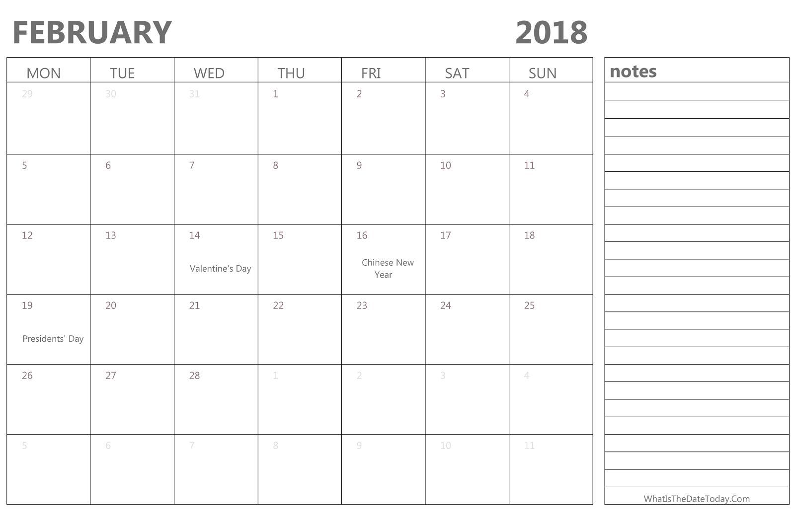 february 2018 calendar february 2018 printable calendar february 2018 calendar printable february 2018
