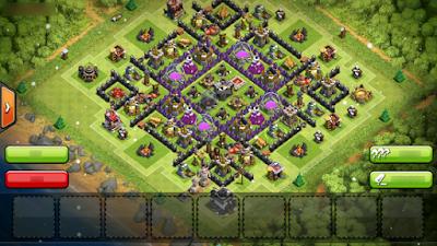 Inilah Base COC TH 9 Terbaik Untuk War dan Farming