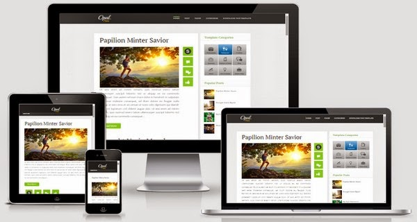 Opal Responsive Blogger Template Free Download