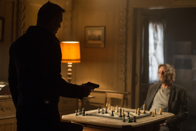 James Bond (Daniel Craig) and Mr. White (Jesper Christensen) in Metro-Goldwyn-Mayer Pictures/Columbia Pictures/EON Productions' action adventure SPECTRE.