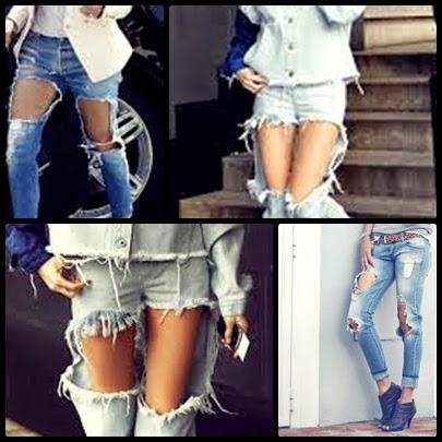 look pantalones rotos