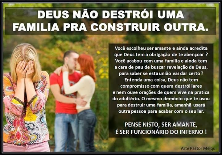 Pastor Pinheiro Não Se Iluda Ser Amante é Ser Funcionário Do Inferno