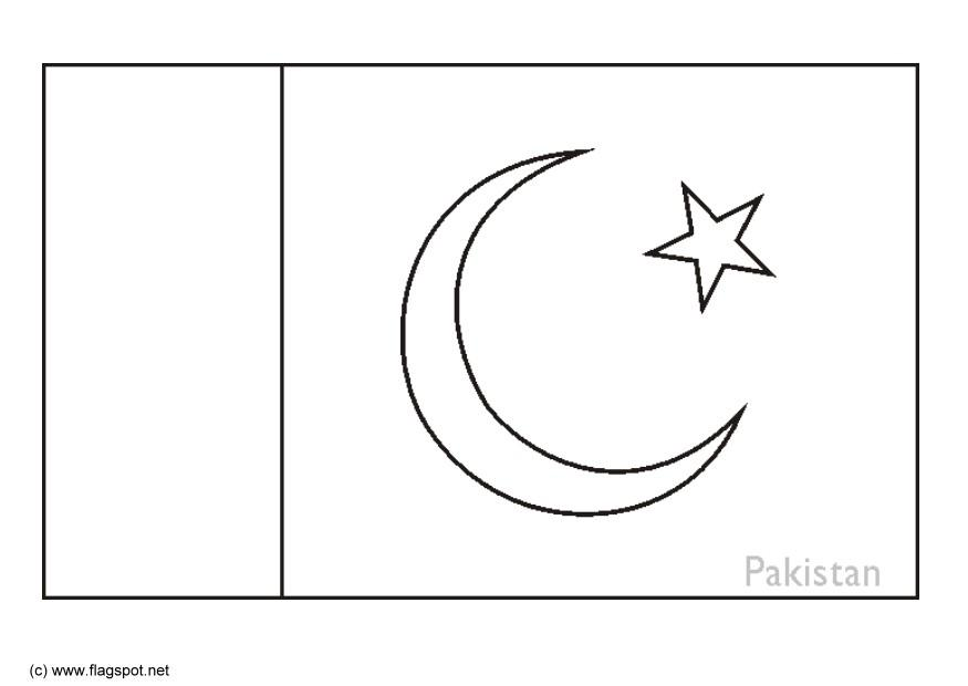 LAMINAS PARA COLOREAR - COLORING PAGES: Mapa y Bandera de Pakistan ...
