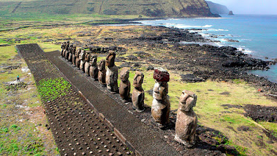 KAP on Tongariki Easter island