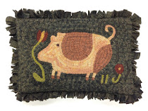 Hooked Rug Designs adapted from Notforgotten Farm's Folk Art