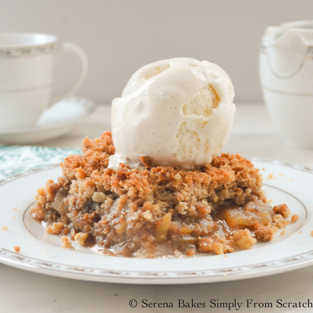 Apple Crisp #SundaySupper | Serena Bakes Simply From Scratch