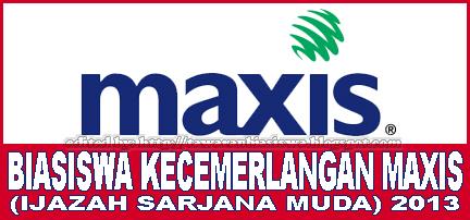 Tawaran Biasiswa Kecemerlangan Maxis untuk Ijazah Pertama 2013
