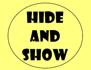 spoiller, hide and show,tombol