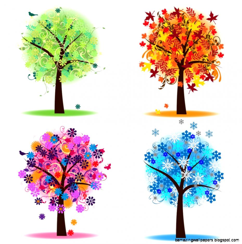 Four Seasons Tree Clipart   Clipart Kid