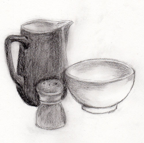 pictures of still life drawings in pencil with shading
