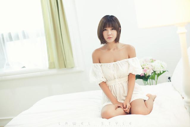 4 Ryu Ji Hye in White-Very cute asian girl - girlcute4u.blogspot.com