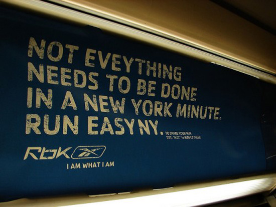 reebok typo on the subway in new york