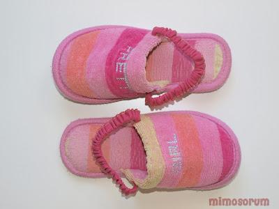 Elástico en zapatillas. Mimosorum