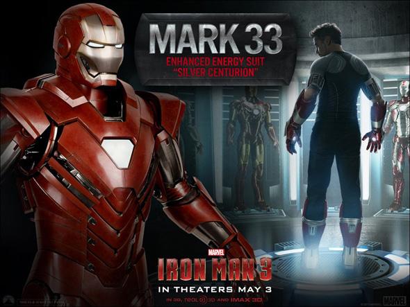 Las Nuevas armaduras en Iron Man 3