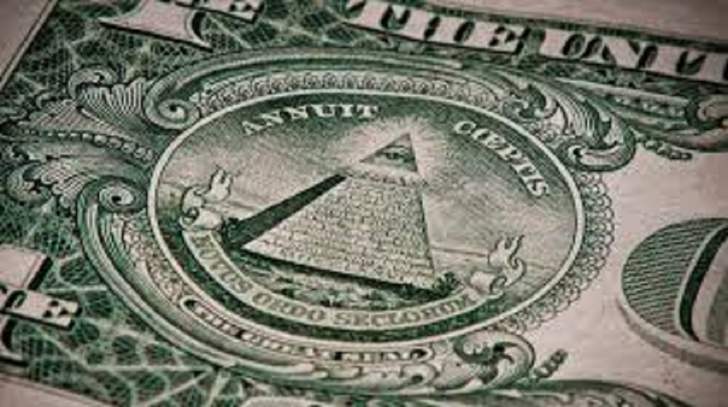Simbologia iluminati en el billete de un dolar
