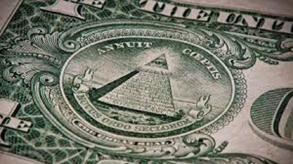 Simbologia iluminati en el billete de un dolar