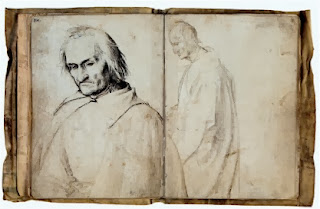 Hans Holbein the Elder, pages from his only still bound sketchbook