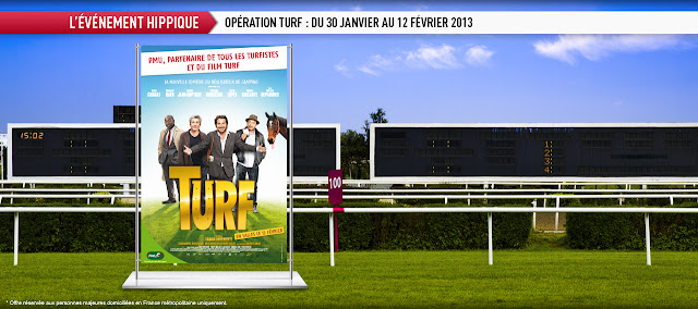 1750 lots de 2 places pour le film Turf
