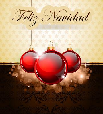 Tarjetas navideñas con esferas rojas y mensajes
