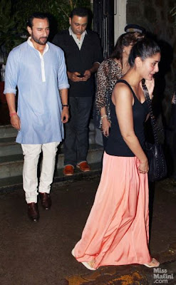Saif Ali Khan & Kareena Kapoor  spotted at Bandra