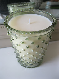 """Stem"" Hobnail Glass Candle"