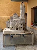 La maqueta de l'església parroquial de Moià feta per Josep Fonts