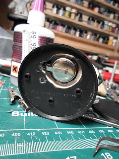 the base of the HelBrute showing the battery