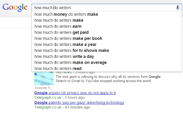 FIVE WRITER QUESTIONS ANSWERED #3: GOOGLE AUTOCOMPLETE SERIES