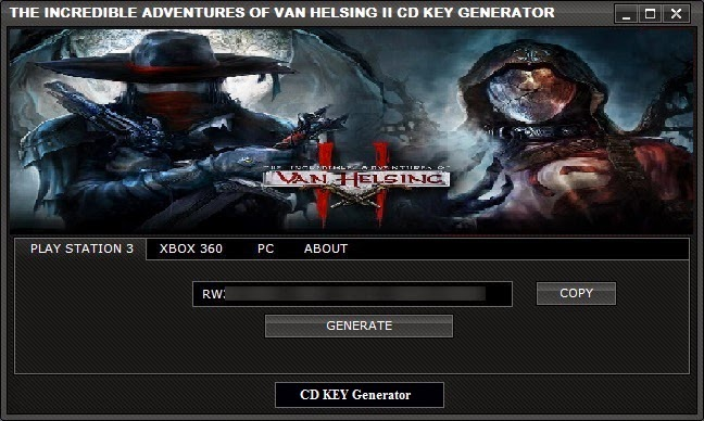 The Incredible Adventures Of Van Helsing 2 CD KEY Generator