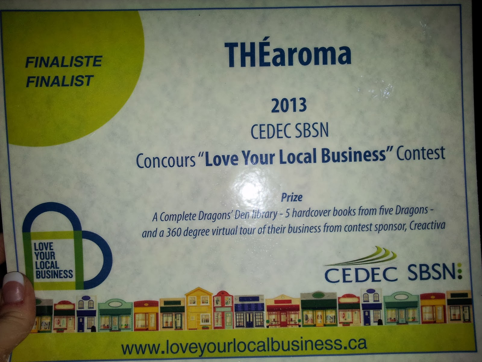 TEAroma, finalist for Love Your Local Business 2013