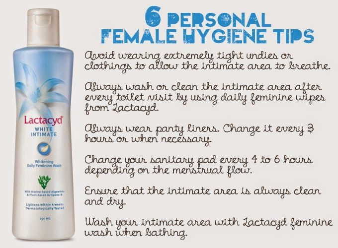 daintyflair's six personal female hygiene tips