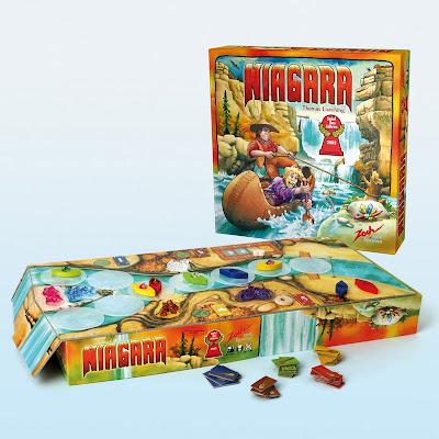 Niagara - The box artwork and playing pieces