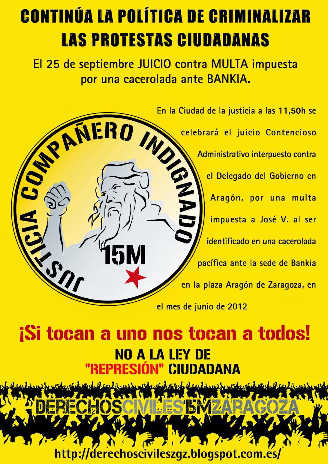 La criminalizaci n de la protesta ciudadana un caso entre for Bankia oficinas zaragoza